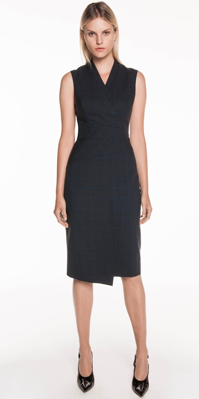 Wear to Work | Cotton Tencel Check Dress