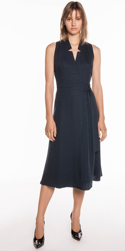 Dresses | Textured Tencel Wrap Dress