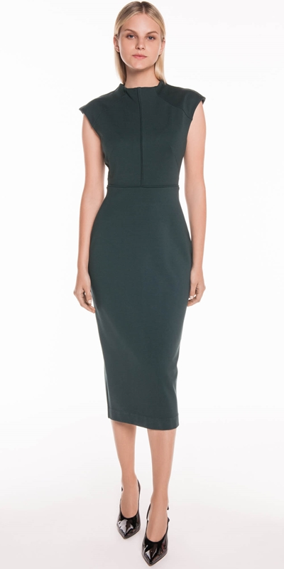 Sale | Funnel Neck Pencil Dress
