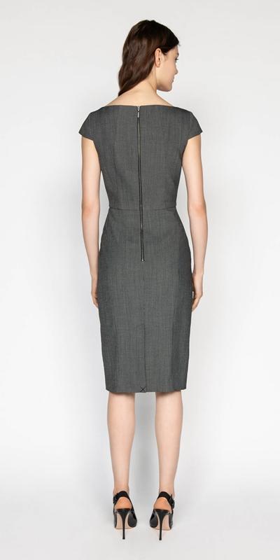 Dresses | Birdseye Asymmetric Boat Neck Dress