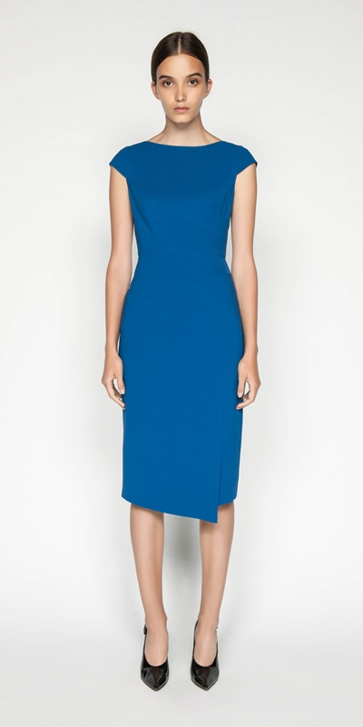 Sale | Fanned Dart Pencil Dress