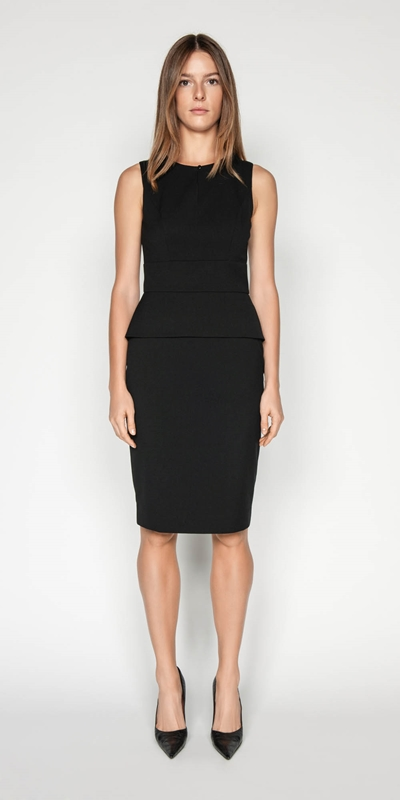 Dresses | Keyhole Peplum Pencil Dress
