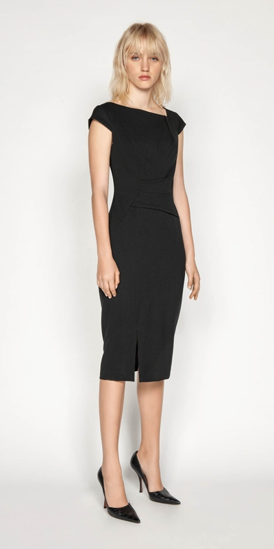 Sale | Angled Bateau Pencil Dress