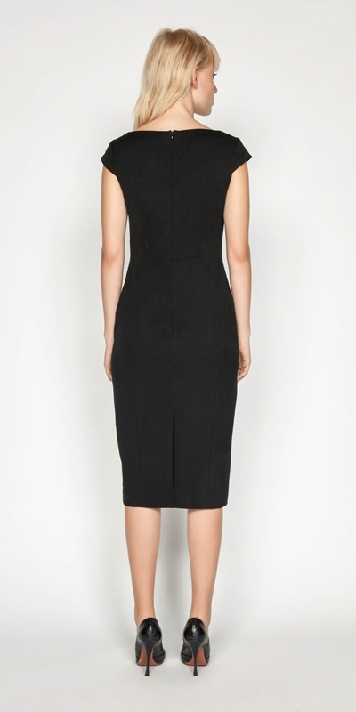 Dresses | Angled Bateau Pencil Dress