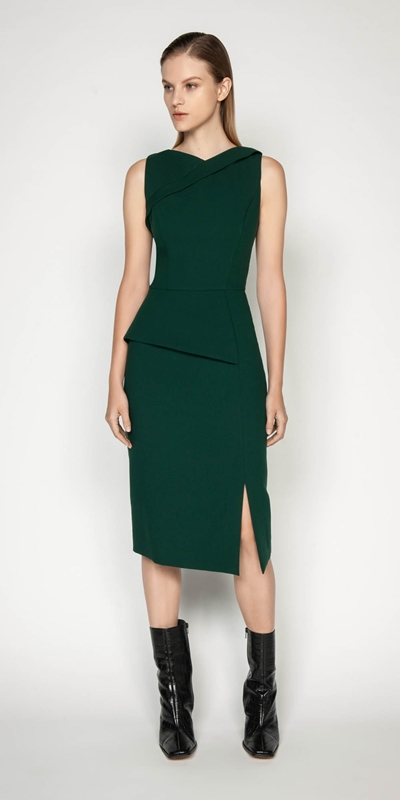 Wear to Work | Asymmetric Peplum Pencil Dress
