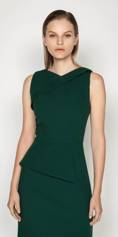 Dresses  | Asymmetric Peplum Pencil Dress