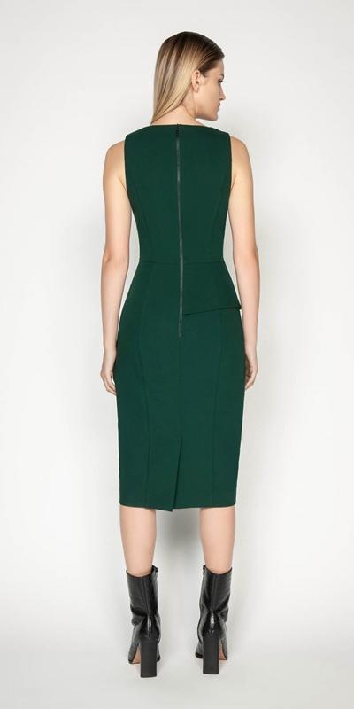 Dresses | Asymmetric Peplum Pencil Dress
