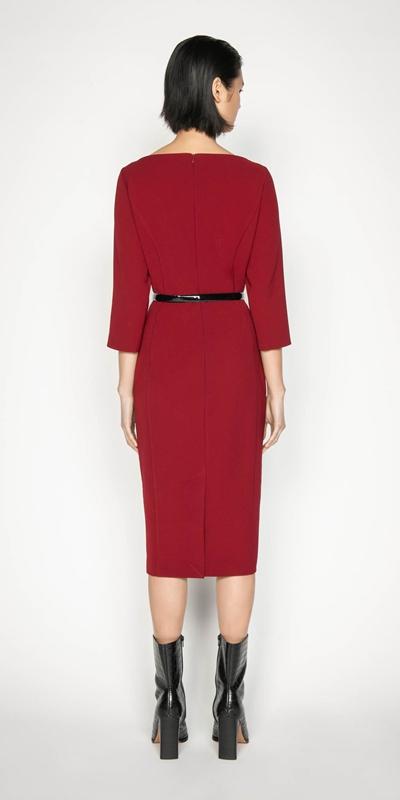 Dresses | Cropped Sleeve Bateau Pencil Dress