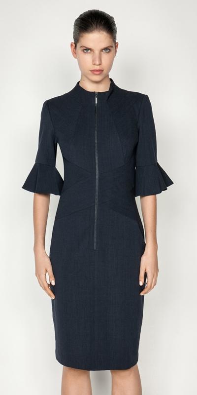 Dresses  | Zip Front Pencil Dress