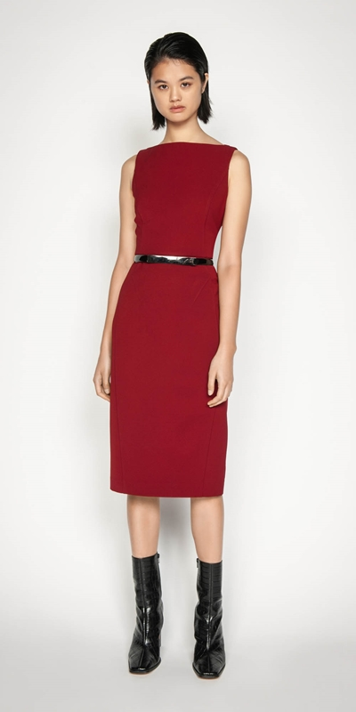 Wear to Work | Sleeveless Bateau Pencil Dress