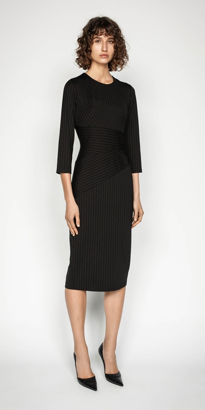 Wear to Work | Striped Spliced Pencil Dress