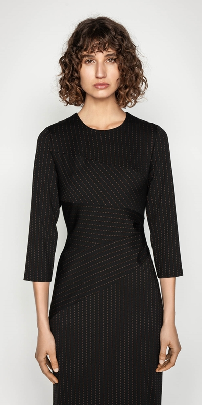 Sale  | Striped Spliced Pencil Dress