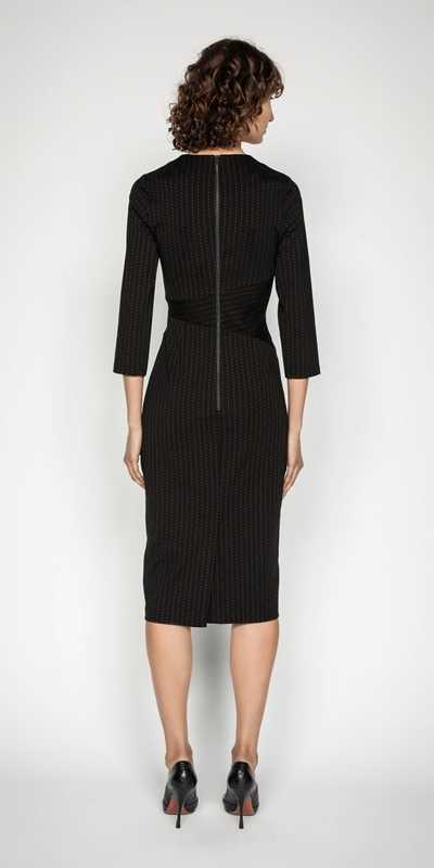Dresses | Striped Spliced Pencil Dress