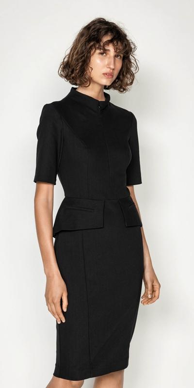 Sale  | Ticking Stripe Peplum Pencil Dress