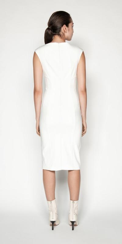 Dresses   Square Neck Pencil Dress