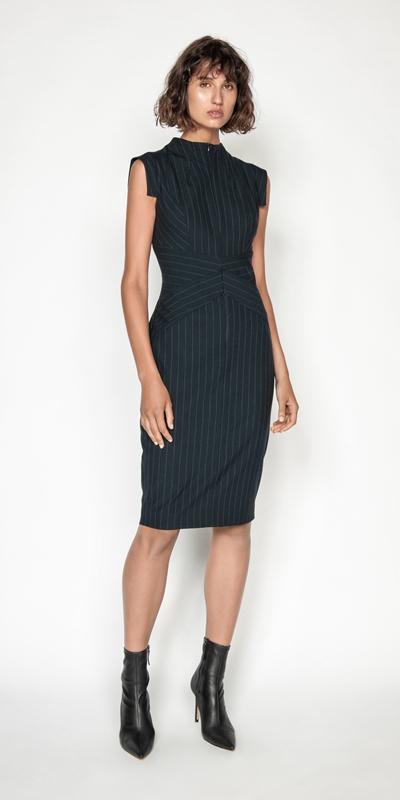 Dresses | Pinstripe Pencil Dress
